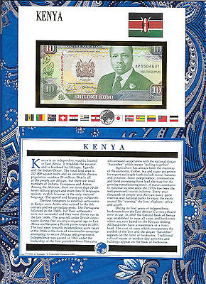 E Banknotes of All Nations Kenya 1991 10 Shilingi P24c UNC Prefix AP