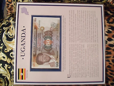 PCS Historic Currency  Uganda 50 Shillings 1985 P20 UNC prefix C/4