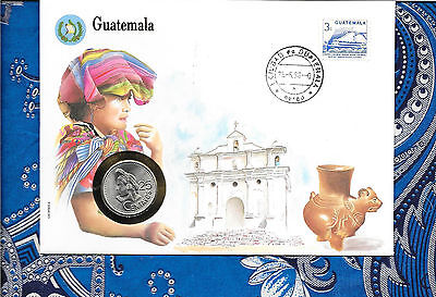 E Coins of All Nations Guatemala 1990 25 Centavos UNC