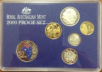 2000 Royal Australian Mint proof Coin Set - no outer box or certificate
