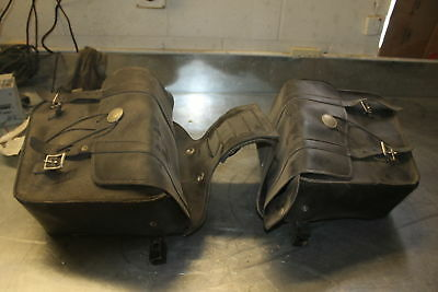 1983 Harley Davidson Sportster Hd 1000 Left and right Saddle Bags #7659