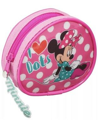 Official Disney Minnie Mouse Red Bow Head Coin Purse Girls Money