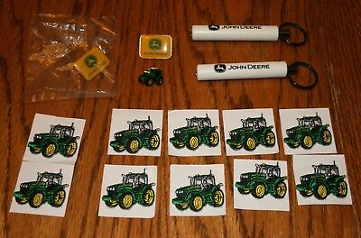 John Deere collectables hat pins keychain flashlights patches rare items tractor