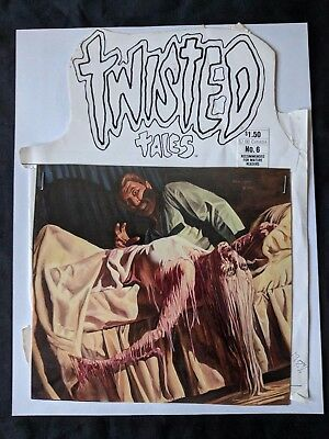 Twisted Tales (1982) #6 PACIFIC COMICS Front Cover Proof Layout Horror Comic