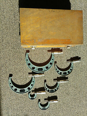 "Mitutoyo 103-907A 0-6"" .0001 Micrometer Set 103 w/wood Case"