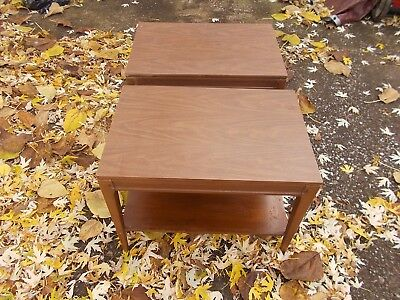 Mersman 31-2 Mid Century Modern End Side Tables Two Tier SET OF 2 PAIR!!