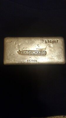 ** RARE** 20 oz ENGELHAD Silver Bullion  Canadian  Early Pour Low Mintage 999+