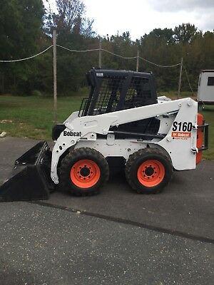 2007 Bobcat S160 Skid Steer Loader W/ Snow Tires, Plow, Fork Lift& Sweeper