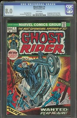 Ghost Rider 1 CGC 8.0   1st Son Of Satan   White Pages