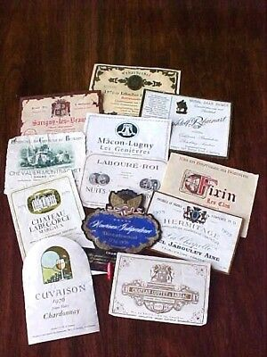 Lot Of 12 Colorful Vintage European & Cal Wine Labels For Crafts Or Decoupage