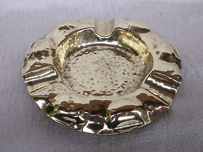 514 / Beautiful Antique Hand Made Arts And Crafts Brass Ash Tray