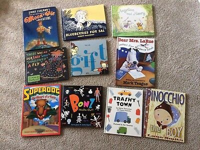 Lot of 10 Hardback Classic Picture Books Pinocchio The Gift Angelina Bonz