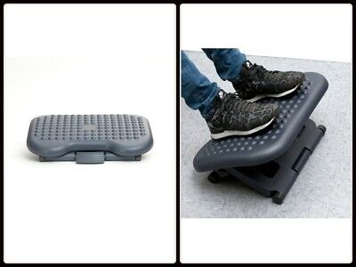 Ergonomic Office Desk Foot Rest Relaxing Feet Stand with Adjustable Height Grey