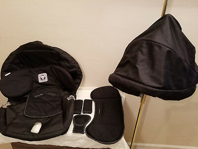 Peg Perego Primo Viaggio 7pc Infant Car Seat Cover & Canopy Set Replacement
