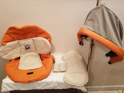Peg Perego Primo Viaggio 6pc Infant Car Seat Cover & Canopy Set Replacement