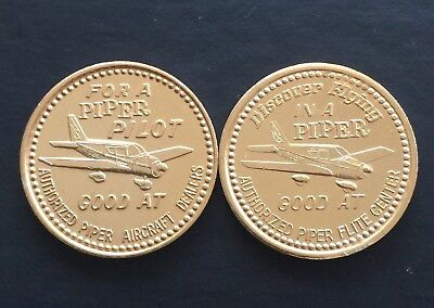 2 Different Piper For a Pilot 5 Dollar Off Lesson Aviation Token Flight Plane