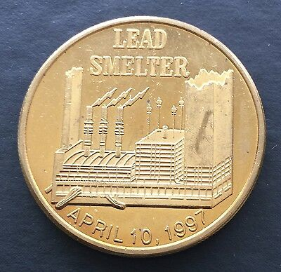 Cominco Worldwide Resourceful Lead Smelter Token Canadian Canada 1997 Medal