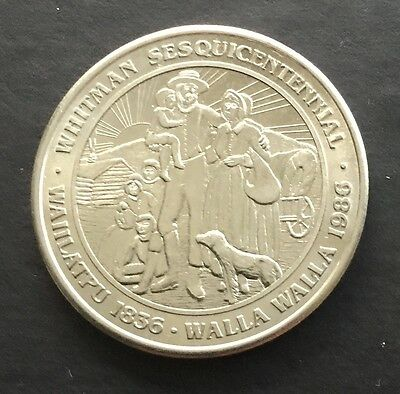 Whitman Sesquicentennial Walla Walla Wagon Wheelers GF Trade Token Washington WA