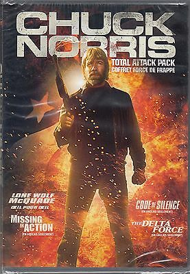 New 4Feature Dvd // Chuck Norris -  Lone Wolf + Missing In Action + Delta Force
