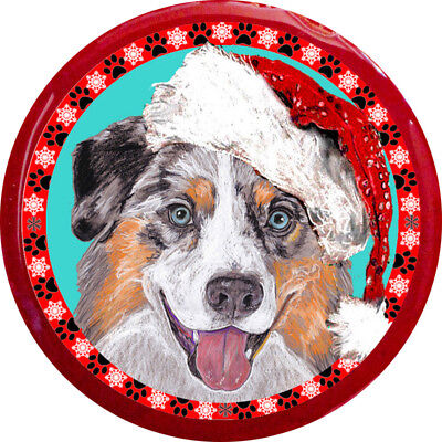 Australian Shepherd Original Art Christmas Pin