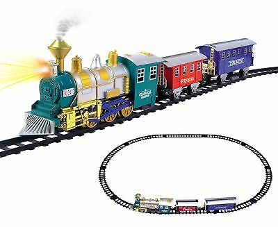 Classic Train Set For Kids With Music and Smoke Sound 2017 Christmas Holiday Toy