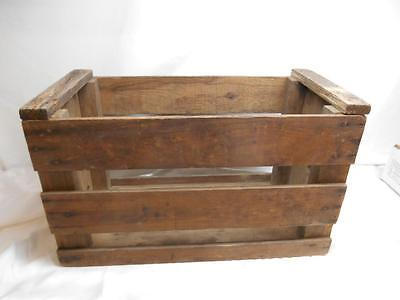 Antique Primitive WOOD SLAT SHIPPING CRATE BOX Rustic Decor Storage Old Vtg