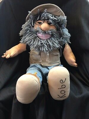 Jerry Garcia Plush Fisherman Doll Vest Pack Hat Grateful Dead Doll