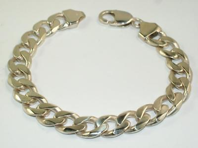 38 g HEAVY MENS BRACELET CURB WRIST CHAIN - 1.3 oz SOLID STERLING SILVER 925