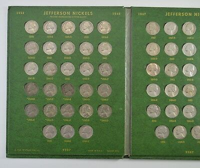 COMPLETE SET - 1938-63 Jefferson Nickels Collection SILVER War 1950-D *570