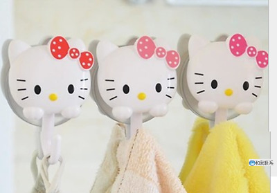4 Pcs Hello Kitty sucker hook Towel Hook, kitchen, bathroom, home