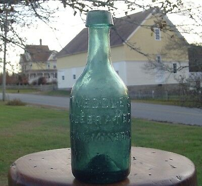 Pre Civil War Bottle, Tweddle's Celebrated Soda Or Mineral Waters, Iron Pontil