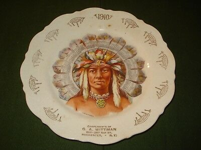 1910 Chief Plate Calendar, Very Regal Image.promtional Item