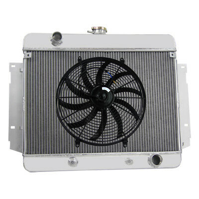 "3Row Alloy Radiator + 16""Fan Fits Chevrolet,Impala,Bel Air,Brookwood 69-70 I6/V8"