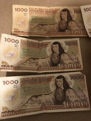 Used Mexico 🇲🇽 5000 Pesos Paper Money,1985, P-85, Circulated