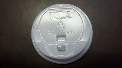 Disposable Travel/Coffee Cup Lids (1000 pieces) for 8oz (237ml) Foam Cups