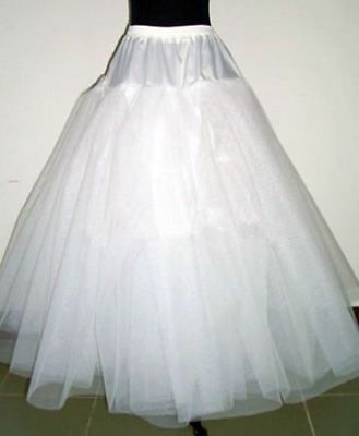 New Plus size White 4-layer Wedding dress Crinoline Petticoat Underskirt NO Hoop