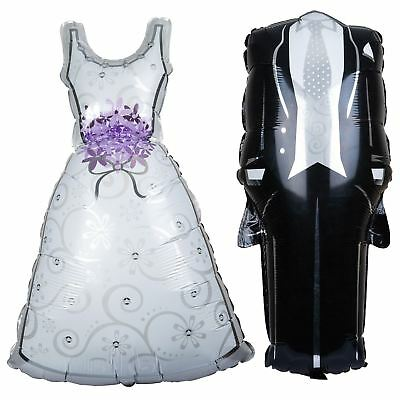 Bride and Groom Bridal Shape Dress Foil Helium Balloons Wedding Hen & Stag Night