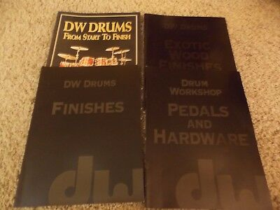Lot of 4 different DW Drums catalogs, 2000-2001