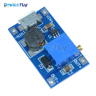 1/5/10PCS 2A Booster Board DC-DC Step-up Module 2/24V Boost To 5/9/12/28V