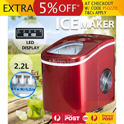 2.2L Commercial Portable Ice Cube Maker Machine Automatic Easy Home Fast Snow AU