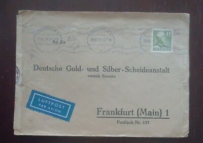 Sweden 1944 Ww2 Commercial Stamp Cover Military Censored Air Mail To Germany