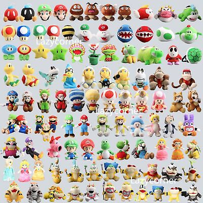 Super Mario Bros Plush Character Soft Toy Stuffed Animal Collectible Doll Figure