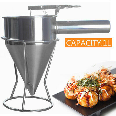 Stainless Steel Pancake Cheese Funnel Dispenser For Donut Cupcake Waffle Making