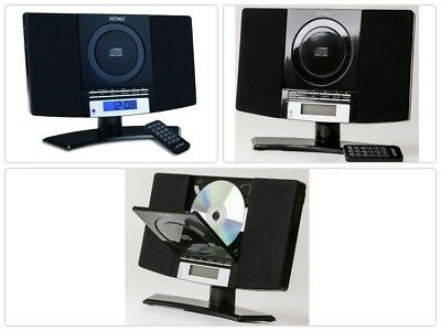Wall Mountable MP3 Stereo Music System Player LCD CD FM Radio Alarm Aux In Home
