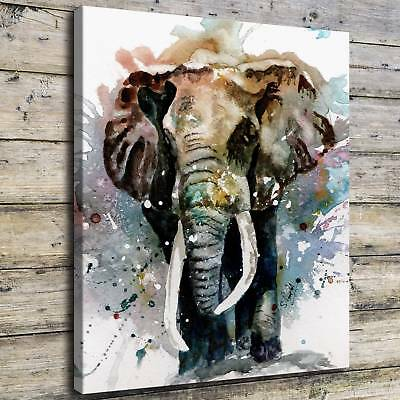 "12""x14""Elephant Steven Ponsford Painting HD Print on Canvas Home Decor Wall Art"