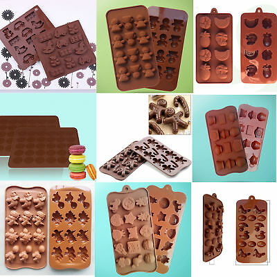 Mold Muffin Bakeware Jelly Candy Tray Mould DIY Chocolate Xmas Baking Cupcake