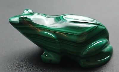 Malachite 117 grammes Grenouille - Natural frog Malachite