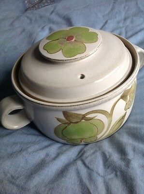 Denby Troubadour Casserole Dish Or Serving Bowl, with lid, 1970s hand painted