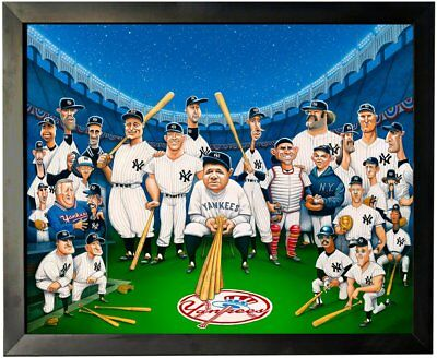 David O'keefe Tribute to the Legend of the Yankees Framed Fine Art Print 28 x 22