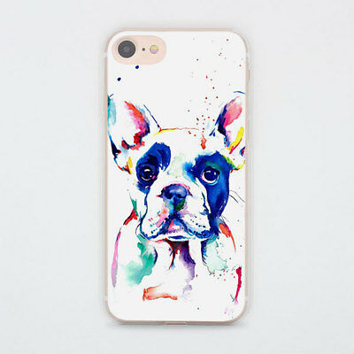 Whimsical Animal French Bulldog Case Cover For iPhone 7 8 Samsung Galaxy Huawei